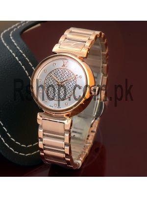Louis Vuitton Ladies Tambour Lovely Diamonds Dial Watch Price in Pakistan