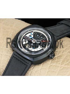 SevenFriday V1-01 V6F 1:1 Black Dial on Black Leather Strap Watch Price in Pakistan